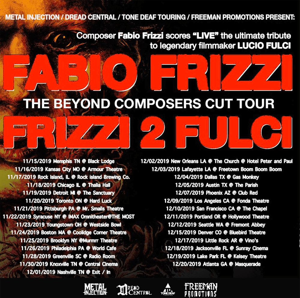 Final Dates And Venues Revealed For Fabio Frizzi S The