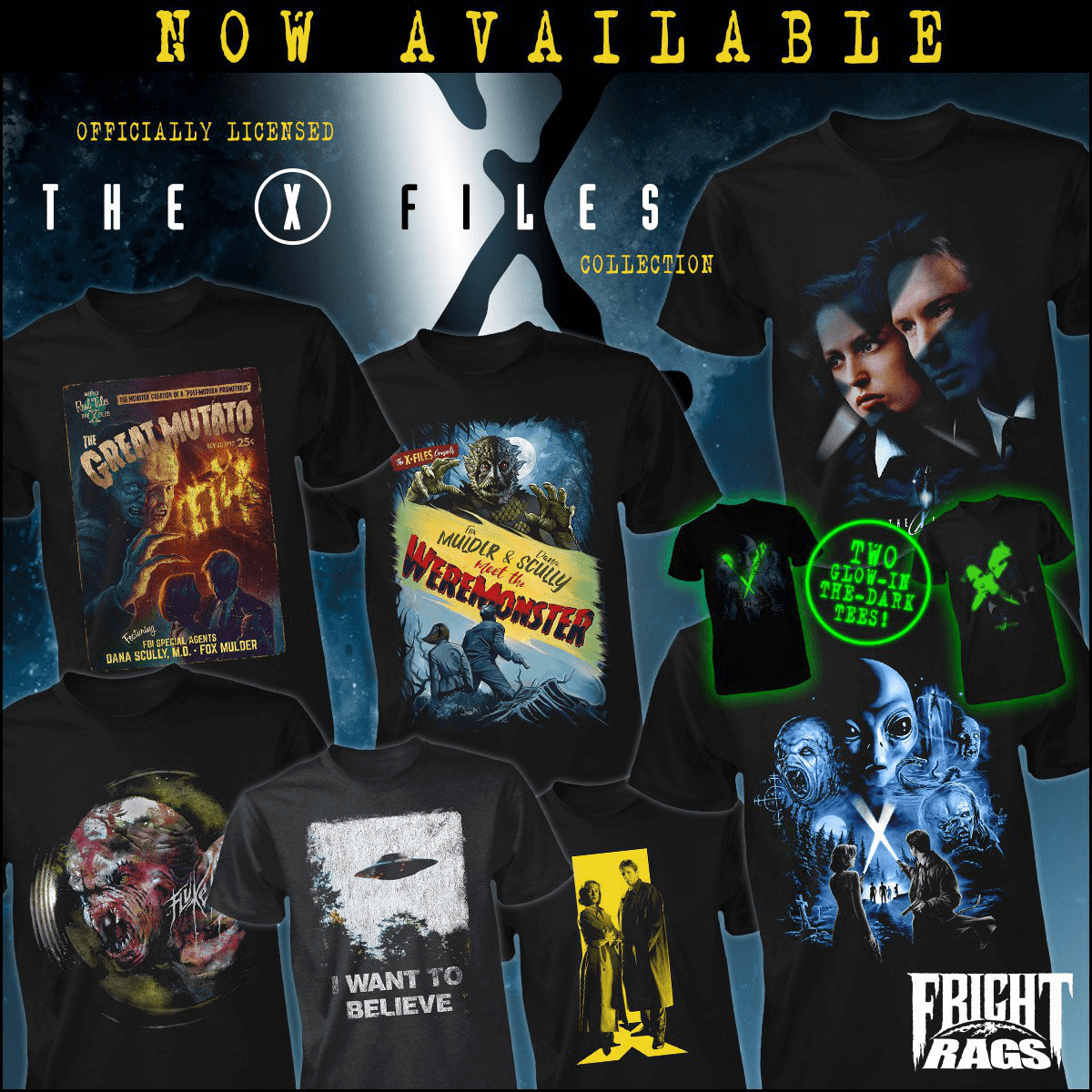 Fright-Rags Releases New Merchandise for The X-Files and The